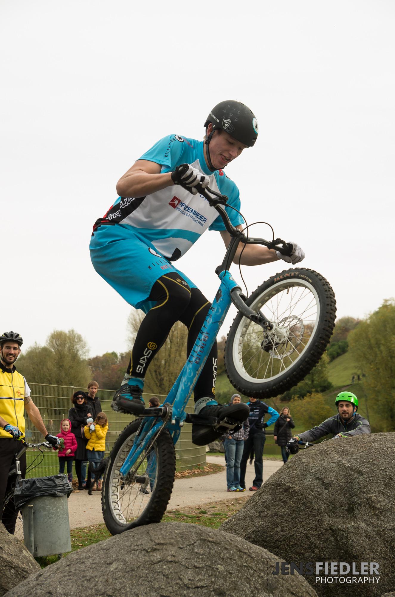 Trial im OlympiaparkMünchen