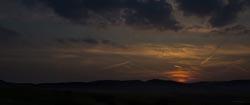 Sonnenuntergang bei Warzenbach/Marburg