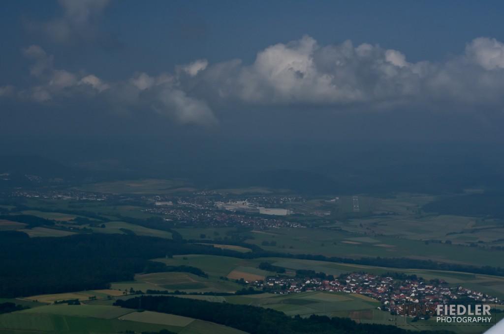 Luftaufnahme des Flugplatzes Allendorf