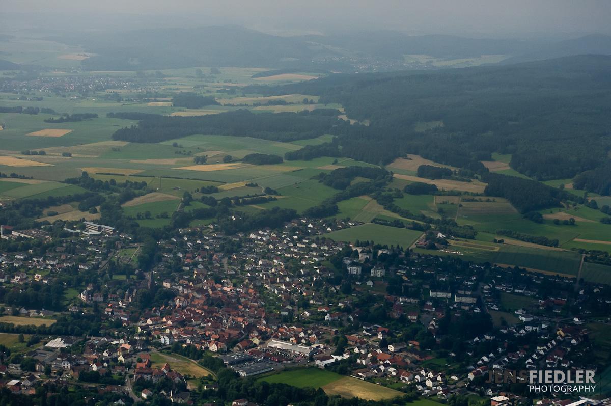 Luftaufnahme von Wetter (Hessen)